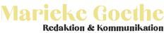 Goethe – Redaktion & Kommunikation aus Berlin Logo